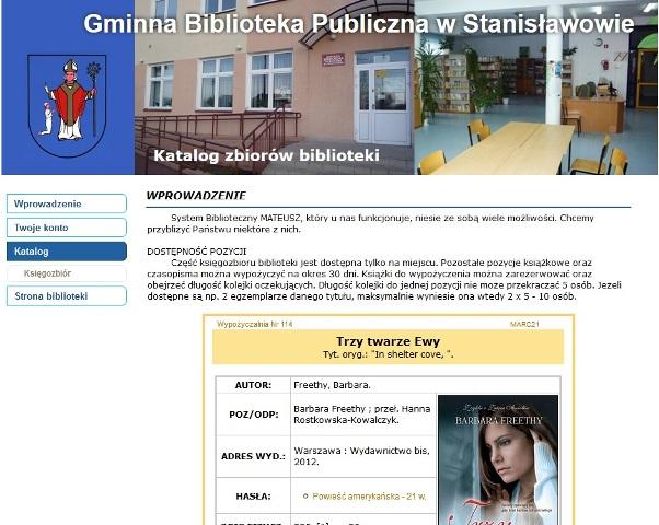 katalog Stanisławowa